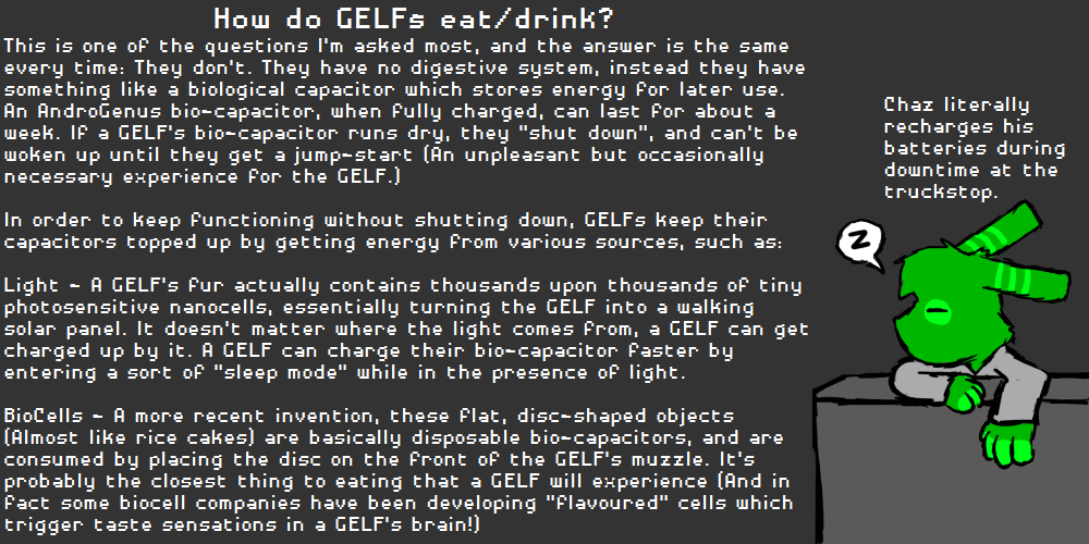 How do GELFs eat/drink?
